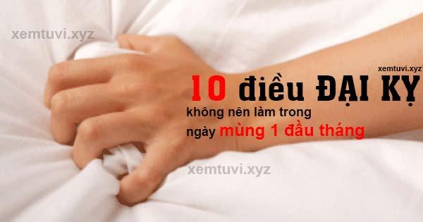 10 điều không nên làm trong ngày mùng 1 đầu tháng