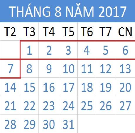Tử vi hàng tuần từ ngày 01/08/2017 đến 07/08/2017