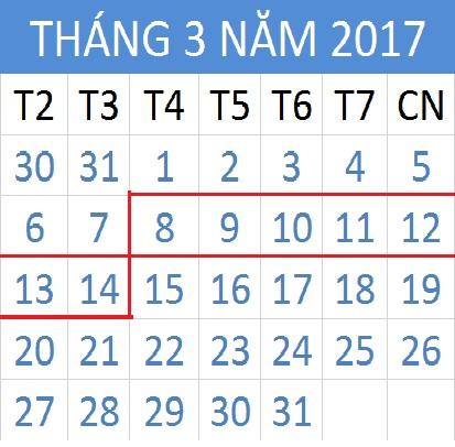 Tử vi hàng tuần từ ngày 08/03/2017 đến 14/03/2017