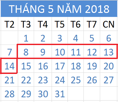 Tử vi hàng tuần từ ngày 08/05/2018 đến ngày 14/05/2018
