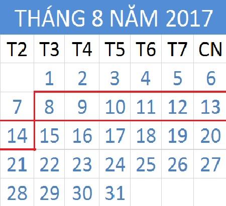 Tử vi hàng tuần từ ngày 08/08/2017 đến 14/08/2017