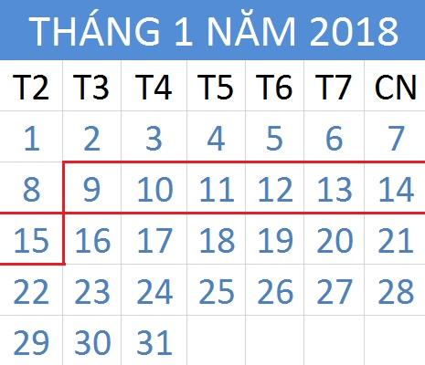 Tử vi hàng tuần từ ngày 09/01/2018 đến 15/01/2018