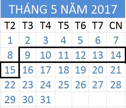 Tử vi hàng tuần từ ngày 09/05/2017 đến 15/05/2017