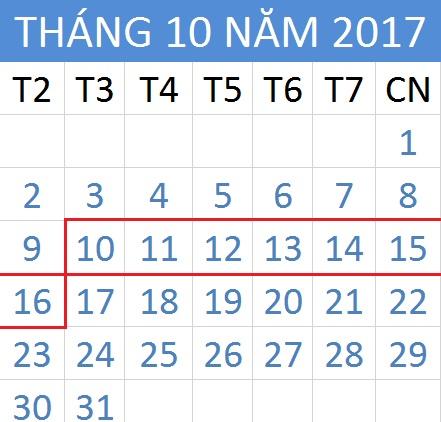 Tử vi hàng tuần từ ngày 10/10/2017 đến 16/10/2017