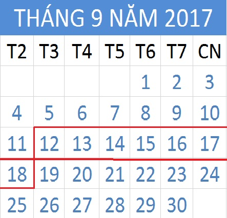 Tử vi hàng tuần từ ngày 12/09/2017 đến 18/09/2017