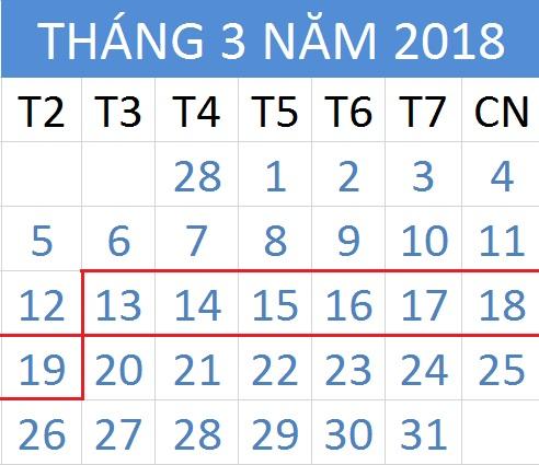 Tử vi hàng tuần từ ngày 13/03/2018 đến 19/03/2018