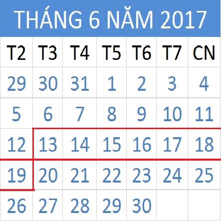 Tử vi hàng tuần từ ngày 13/06/2017 đến 19/06/2017