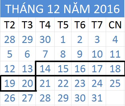 Tử vi hàng tuần từ ngày 14/12/2016 đến 20/12/2016