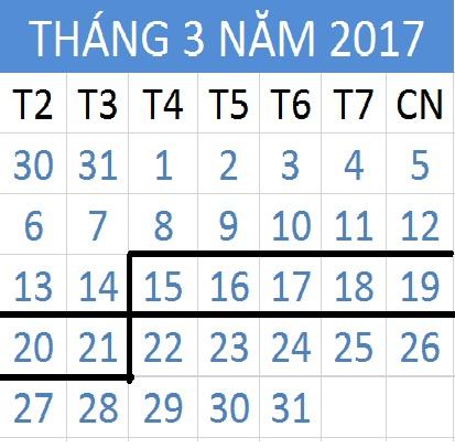 Tử vi hàng tuần từ ngày 15/03/2017 đến 21/03/2017