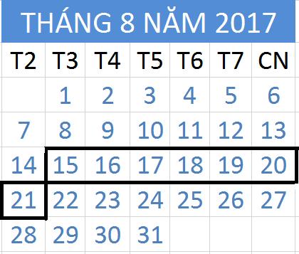 Tử vi hàng tuần từ ngày 15/08/2017 đến 21/08/2017