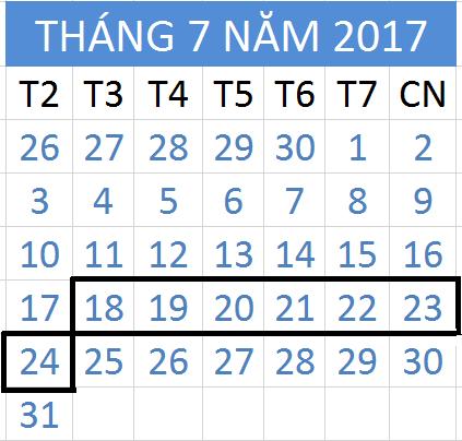 Tử vi hàng tuần từ ngày 18/07/2017 đến 24/07/2017