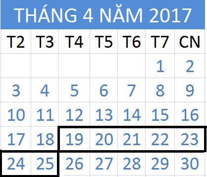 Tử vi hàng tuần từ ngày 19/04/2017 đến 25/04/2017