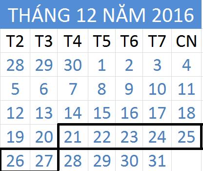 Tử vi hàng tuần từ ngày 21/12/2016 đến 27/12/2016