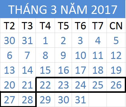 Tử vi hàng tuần từ ngày 22/03/2017 đến 28/03/2017