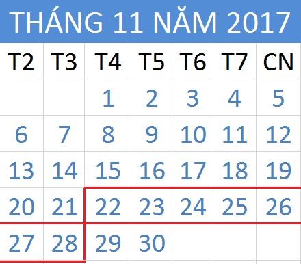 Tử vi hàng tuần từ ngày 22/11/2017 đến 28/11/2017