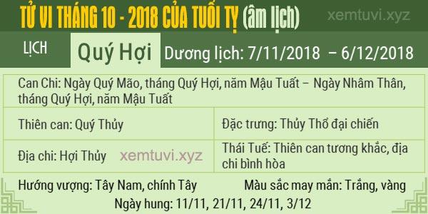 Xem tử vi tháng 10 năm 2018 của tuổi Tỵ
