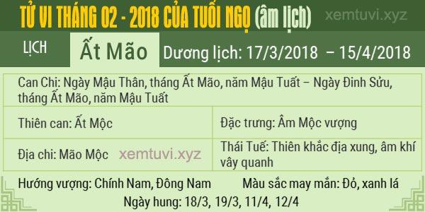 Xem tử vi tháng 2 năm 2018 của tuổi Ngọ
