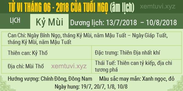 Xem tử vi tháng 6 năm 2018 của tuổi Ngọ