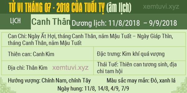 Xem tử vi tháng 7 năm 2018 của tuổi Tỵ