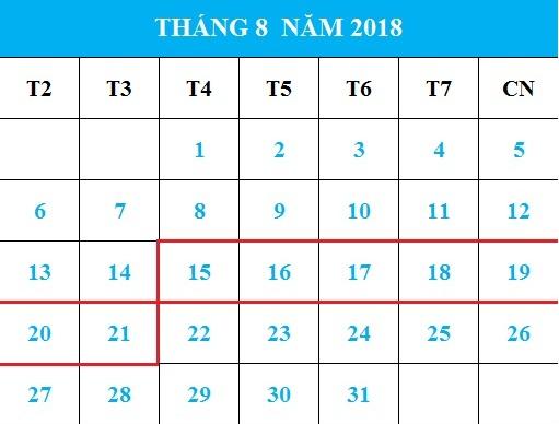 Tử vi hàng tuần từ ngày 15/08/2018 đến 21/08/2018