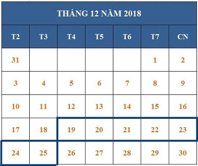 Tử vi hàng tuần từ ngày 19/12/2018 đến ngày 25/12/2018