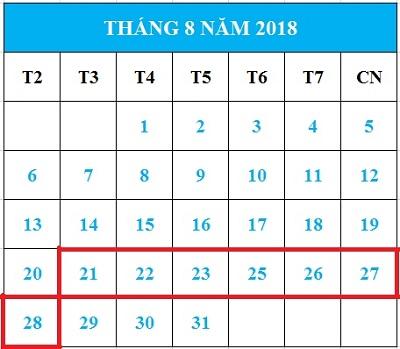 Tử vi hàng tuần từ ngày 21/08/2018 đến ngày 28/08/2018