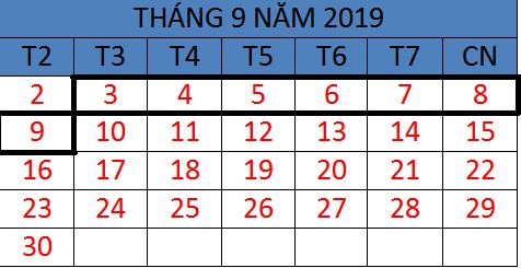 Tử vi hàng tuần từ ngày 03/09/2019 đến ngày 09/09/2019