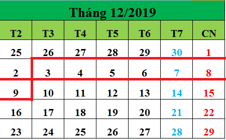 Tử vi hàng tuần từ ngày 03/12/2019 đến ngày 09/12/2019