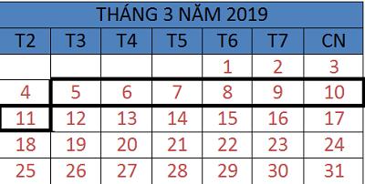 Tử vi hàng tuần từ ngày 05/03/2019 đến ngày 11/03/2019