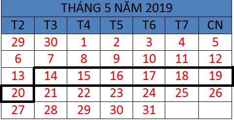 Tử vi hàng tuần từ ngày 14/05/2019 đến ngày 20/05/2019