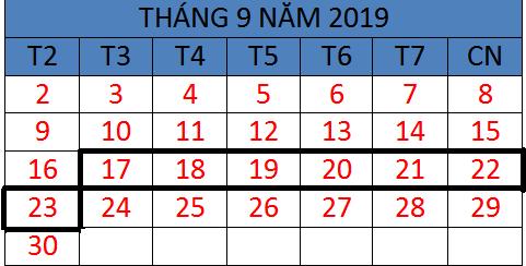 Tử vi hàng tuần từ ngày 17/09/2019 đến ngày 23/09/2019