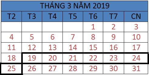 Tử vi hàng tuần từ ngày 19/03/2019 đến ngày 25/03/2019