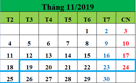 Tử vi hàng tuần từ ngày 19/11/2019 đến ngày 25/11/2019