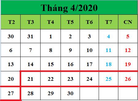 Tử vi hàng tuần từ ngày 21/04/2020 đến ngày 27/04/2020