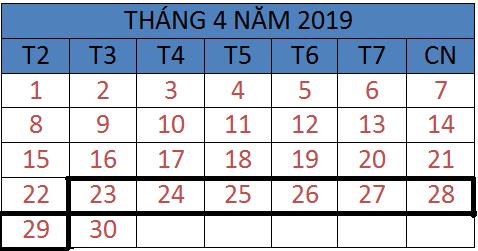 Tử vi hàng tuần từ ngày 23/04/2019 đến ngày 29/04/2019