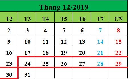 Tử vi hàng tuần từ ngày 24/12/2019 đến ngày 30/12/2019